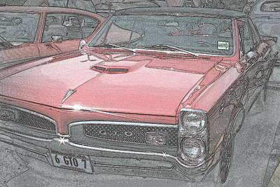 1967 Pontiac Gto Poster by Kay Novy