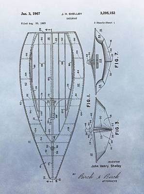 1967 Sailboat Patent Poster by Dan Sproul