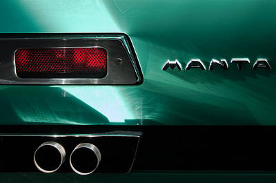 1968 Bizzarrini Manta Taillight Emblem Poster by Jill Reger