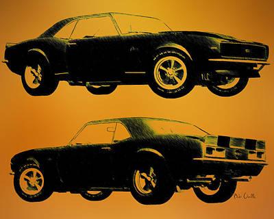 1968 Camaro Ss Side View Poster by Bob Orsillo
