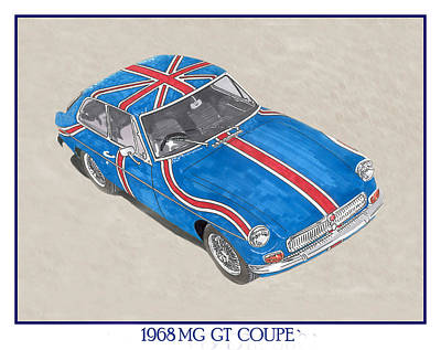 1968 M G G T  Coupe Poster by Jack Pumphrey