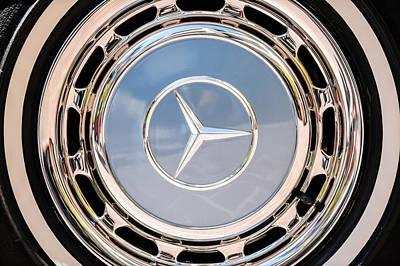 1968 Mercedes-benz 280 Sl Roadster Wheel Emblem -0925c Poster