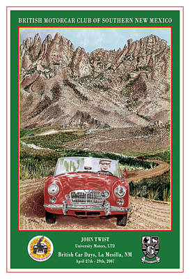 Mountain Rallying In A 1968 M G B  Poster by Jack Pumphrey