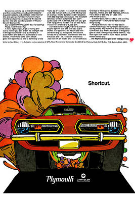 1968 Plymouth Barracuda Poster by Digital Repro Depot