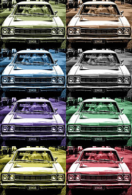 1968 Plymouth Road Runner Poster by Gordon Dean II
