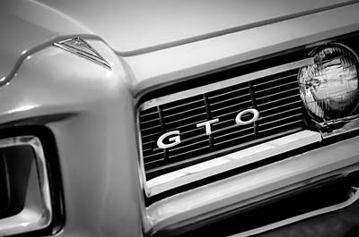 1968 Pontiac Gto Grille Emblem Poster by Jill Reger