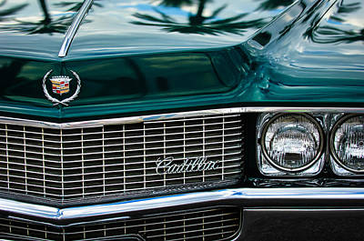 1969 Cadillac Eldorado Grille Emblem -0270c Poster by Jill Reger