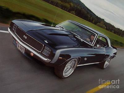 1969 Camaro In Motion Poster by Paul Kuras