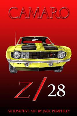 1969 Camaro Z 28  Poster