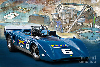 1969 Can-am Lola T163 Poster by Stuart Row