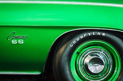 1969 Chevrolet Camaro 396 Rs Ss L89 Side Emblem Poster
