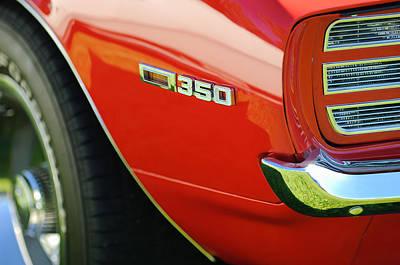 1969 Chevrolet Camaro Rally Sport 350 Emblem Poster by Jill Reger