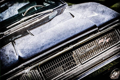 1969 Dodge Charger R-t Emblem -1135ac Poster by Jill Reger
