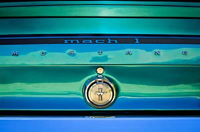 1969 Ford Mustang Mach 1 Rear Emblem Poster by Jill Reger