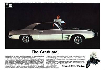 1969 Pontiac Firebird 400 - The Graduate Poster by Digital Repro Depot