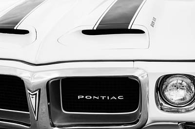 1969 Pontiac Trans Am Grille Emblem Poster by Jill Reger