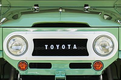 1969 Toyota Fj-40 Land Cruiser Grille Emblem -0444c Poster by Jill Reger