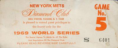1969 World Series Diamond Club Ticket Poster