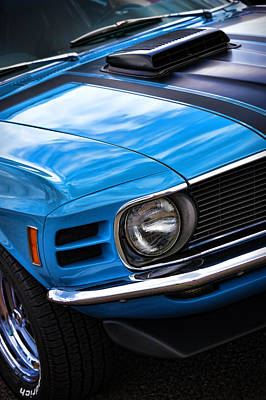 1970 Boss 302 Ford Mustang Poster by Gordon Dean II