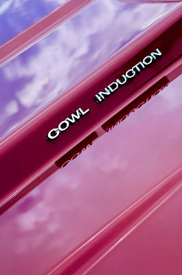 1970 Chevrolet Camaro Pro Touring - Cowl Induction Emblem Poster by Jill Reger