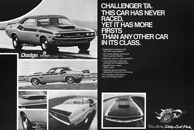 1970 Dodge Challenger T/a Poster by Digital Repro Depot