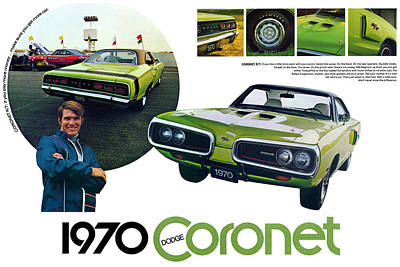 1970 Dodge Coronet R/t Poster by Digital Repro Depot