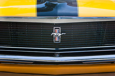 1970 Ford Mustang Boss 302 Grille Emblem Poster by Jill Reger