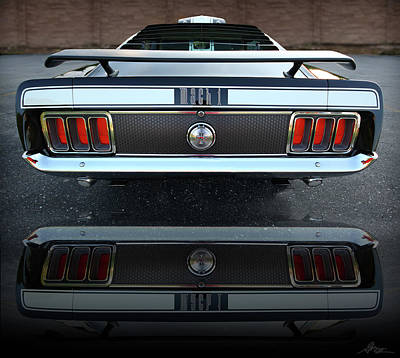 1970 Ford Mustang Mach 1 Poster by Gordon Dean II