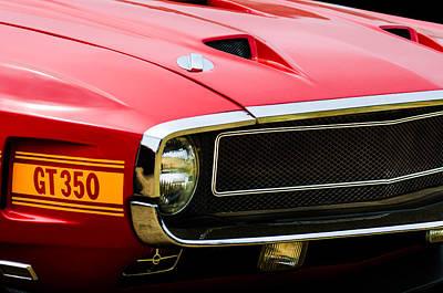 1970 Ford Shelby Gt350 Fastback Emblem Poster