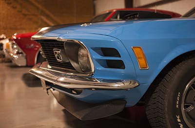 1970 Mustang Mach 1 And Other Classics Hidden In A Garage Poster