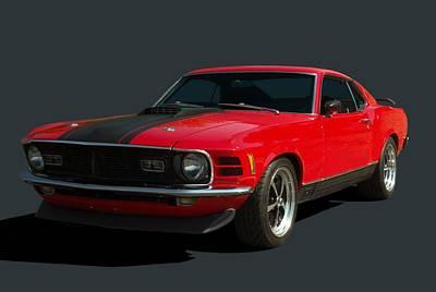 1970 Mustang Mach 1 Poster