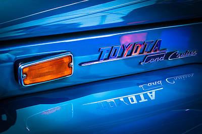 1970 Toyota Land Cruiser Fj40 Hardtop Emblem Poster by Jill Reger
