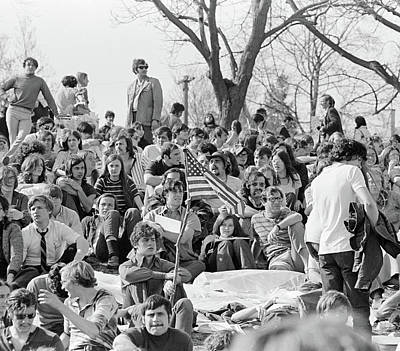 1970s April 22 1970 Crowd Attending Poster