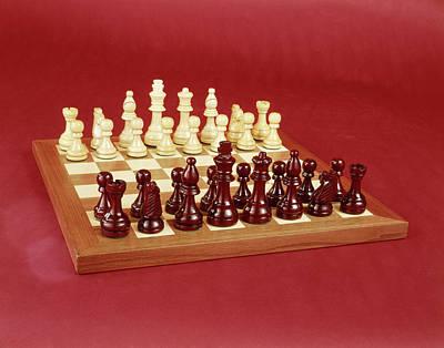1970s Chess Set Arranged On Board Still Poster