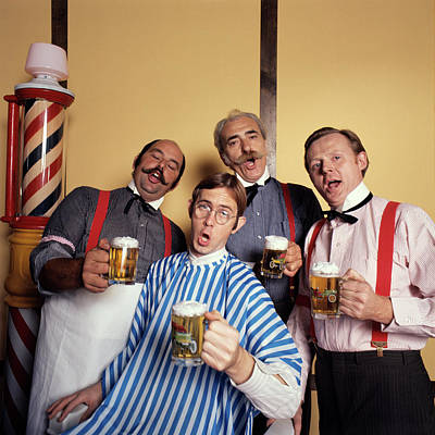 1970s Four Men Barbershop Quartet Poster