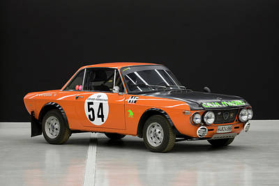 1970`s Lancia Fulvia Hf Rally Car Poster by Panoramic Images