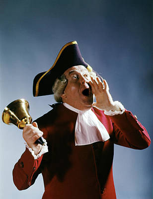 1970s Man Colonial Town Crier 18th Poster