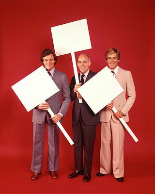 1970s Three Smiling Businessmen Men Poster