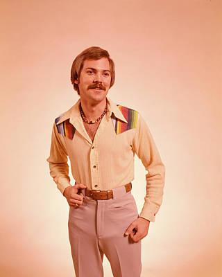 1970s Young Man Portrait Mustache Poster