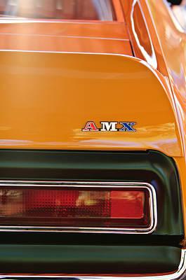 1971 Amc Javelin Amx Taillight Emblem Poster by Jill Reger
