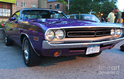 1971 Challenger Front And Side View Poster by John Telfer