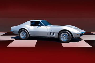 1971 Corvette Checker Board Poster