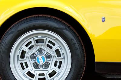 1971 Detomaso Pantera Wheel  Poster by Jill Reger