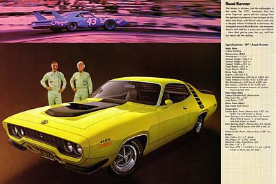 1971 Plymouth Road Runner 440 Poster by Digital Repro Depot