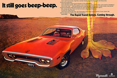 1971 Plymouth Road Runner Poster