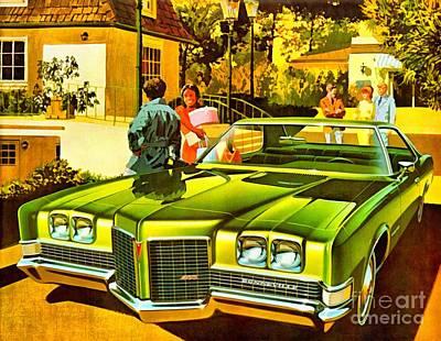 1971 Pontiac Bonneville Coupe Poster