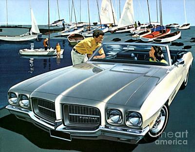 1971 Pontiac Lemans Sport Convertible Poster by Vincent Monozlay