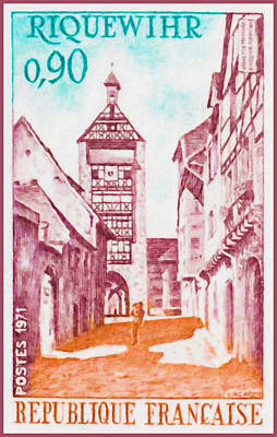1971 Riquewihr Poster by Lanjee Chee