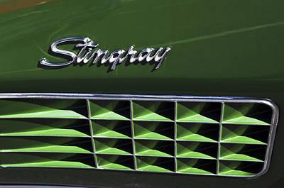 1972 Chevrolet Corvette Stingray Emblem Poster