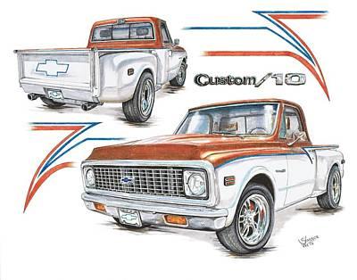 1972 Chevy C-10 Pickup Poster